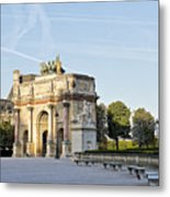 Morning At The Arc De Triomphe Du Carrousel  Metal Print