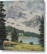 Morning At The Glacier Metal Print