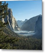 Morning At Tunnel View Metal Print