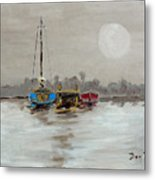 Morning Boats Metal Print
