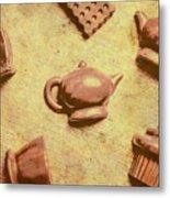 Morning Breakfast Chocolate Tea Set  Metal Print