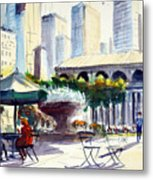 Morning, Bryant Park  Metal Print
