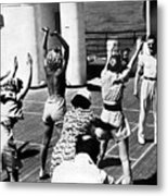 Morning Calisthenics On The Rms Queen Mary 1938 Metal Print