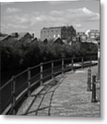 Morning Canal Path Metal Print