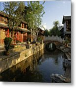Morning Comes To Lijiang Ancient Town Metal Print