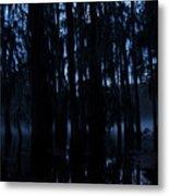 Morning Cypress Mist Metal Print
