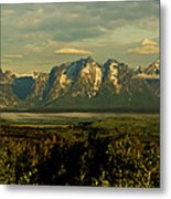 Morning Dawns On The Tetons Metal Print