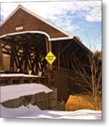 Morning Finds The Rowell Bridge Metal Print