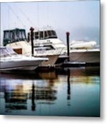 Morning Fog At Boothbay Metal Print