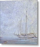 Morning Fog At Wooden Boat Maine Metal Print