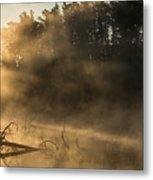 Morning Fog In The Boundary Waters Metal Print