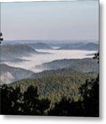 Morning Fog On Pine Mountain Metal Print