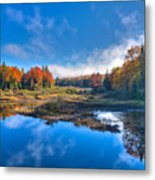 Morning Fog On The Moose River Metal Print