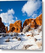 Morning Glow At Arches I Metal Print
