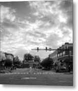 Morning In Murphy North Carolina In Black And White Metal Print