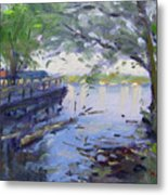 Morning Light By The River Metal Print