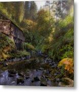 Morning Light Cedar Creek Grist Mill Metal Print