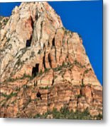 Morning Light In Zion Canyon Metal Print
