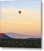 Morning Light With Balloon Metal Print