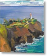 Morning Lighthouse Metal Print