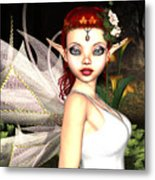 Morning Lily Fairy Metal Print