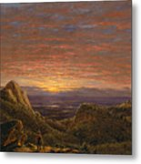 Morning Looking East Over The Hudson Valley From The Catskill Mountains Metal Print