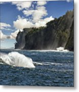 Morning Mist Along The Hamakua Coast On The Big Island. Metal Print