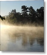 Morning Mist Glowing In Sunlight Metal Print