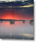 Morning Mist - Florida Sunrise Metal Print