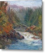 Morning Muse - Original Contemporary Impressionist River Painting Metal Print