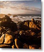 Morning Ocean Panorama Metal Print
