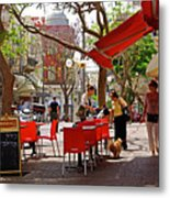 Morning On A Street In Tel Aviv Metal Print by Zalman Latzkovich