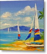 Morning On A Sunny Beach Metal Print