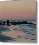 Morning On The Beach At Cape May Metal Print