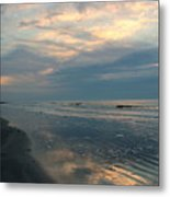 Morning On The Beach Metal Print