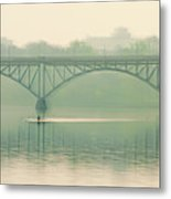 Morning On The Schuylkill River - Strawberry Mansion Bridge Metal Print