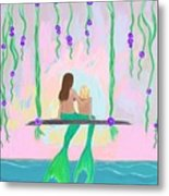 Morning On The Swing Metal Print