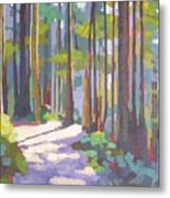 Morning On The Trail Metal Print