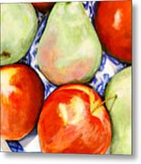 Morning Pears and Apples Metal Print