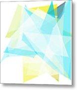 Morning Polygon Pattern Metal Print
