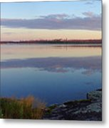 Morning Reflections In The Bwca Metal Print