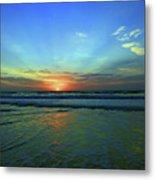 Morning Sea Foam Metal Print