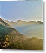 Morning Shadows In The Himalayas Metal Print