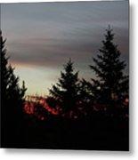 Morning Silhouette 2 Metal Print