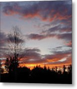 Morning Silhouetted - 1 Metal Print