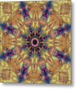 10300 Morning Sky Kaleidoscope 01a Metal Print