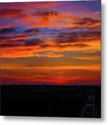 Morning Sky Over Washington D C Metal Print