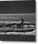 Morning Surfer Metal Print