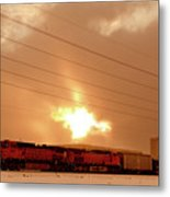 Morning Train 2 Metal Print