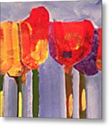 Morning Tulips Metal Print